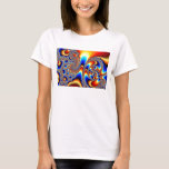 Slipping Through - Fractal Art T-Shirt