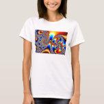 Slipping Through - Fractal Art T-Shirt