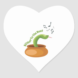 Slither To The Beat Heart Sticker