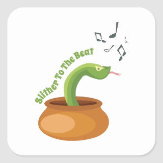 Slither To The Beat Square Sticker