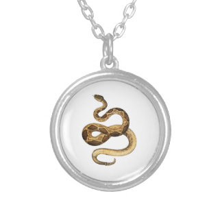 Slithering Expressions Silver Plated Necklace