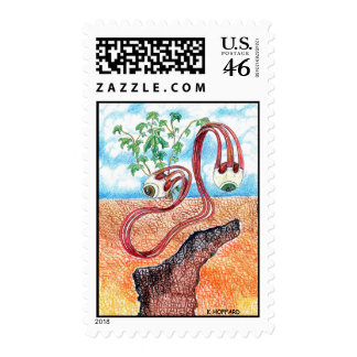 """Slithering Eye's"" Postage Stamps"