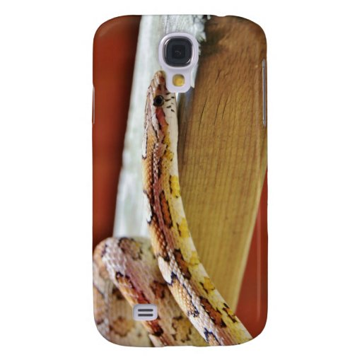 Slithering Red Corn Snake Samsung Galaxy S4 Case