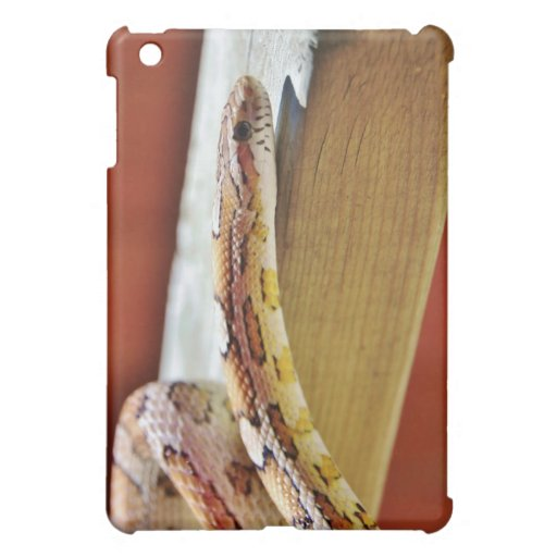 Slithering Red Corn Snake iPad Mini Cases