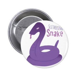 Slithering Snake 2 Inch Round Button