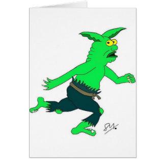 Slithers slinn the goblin greeting card