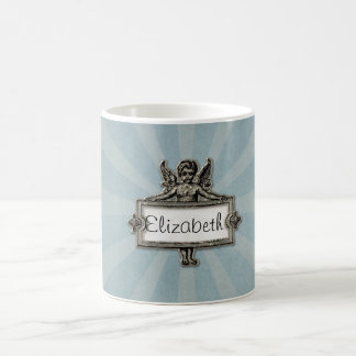 Sliver Angel Name Plate Blue Starburst Coffee Mug