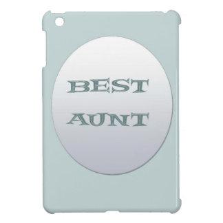 Sliver/Blue Best Aunt iPad Mini Cover
