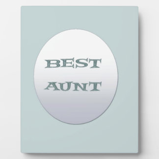 Sliver/Blue Best Aunt Plaque
