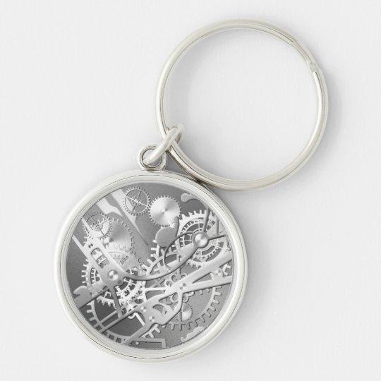 sliver steampunk watch gears keychain