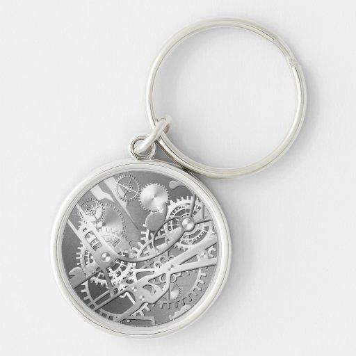 sliver steampunk watch gears keychains