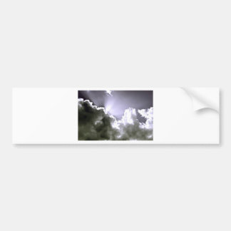 Sliver Sunburst Bumper Sticker