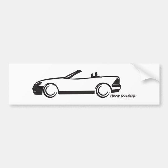 SLK Top Down Bumper Sticker