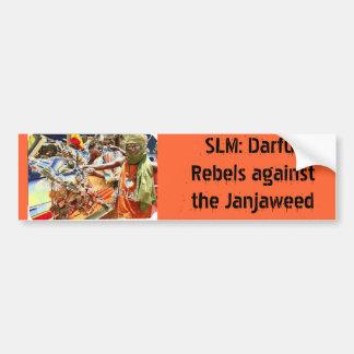 SLM: Darfur rebela contra el Janjaweed Etiqueta De Parachoque