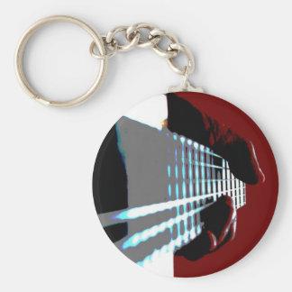Slo - hand basic round button keychain