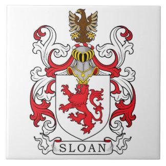 Sloan Family Crest Ceramic Tile