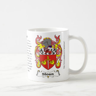 Sloan, the origin, meaning and the crest coffee mug
