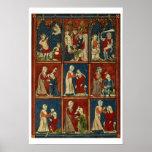 Sloane 1977 fol.2V Medical and biblical scenes, fr Poster