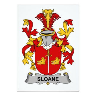 Sloane Family Crest 5x7 Paper Invitation Card