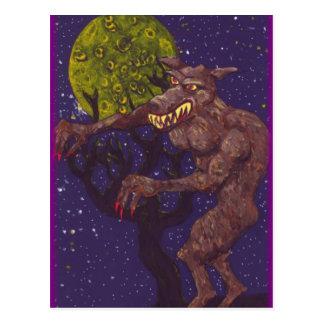 Slobbering Werewolf Postcard
