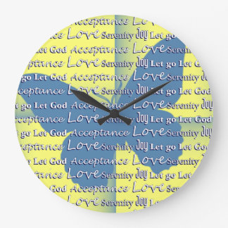 Slogan Butterfly 12 Step Recovery Large Clock