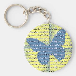 Slogan Butterfly Basic Round Button Keychain