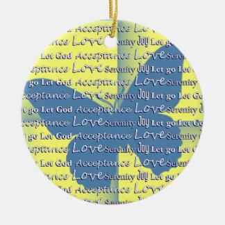 Slogan Butterfly Ceramic Ornament