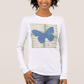 Slogan Butterfly Long Sleeve T-Shirt