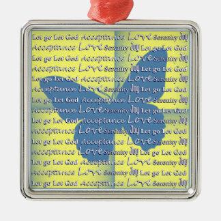 Slogan Butterfly Metal Ornament