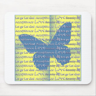 Slogan Butterfly Mouse Pad