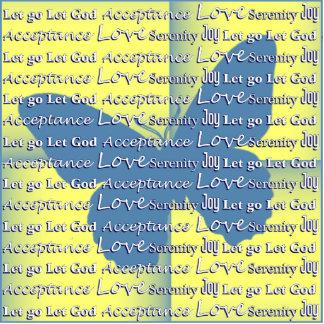 Slogan Butterfly Photo Cutout