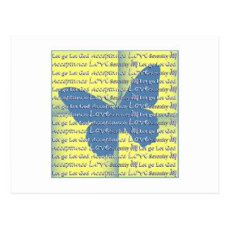 Slogan Butterfly Postcard