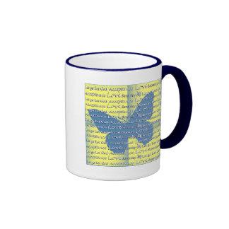 Slogan Butterfly Ringer Mug