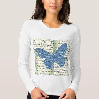 Slogan Butterfly T Shirt