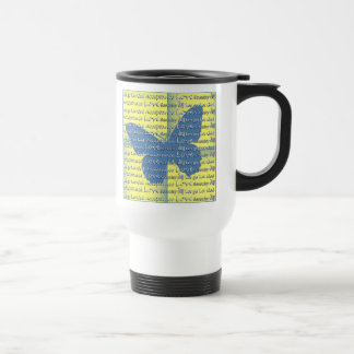 Slogan Butterfly Travel Mug