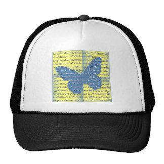 Slogan Butterfly Trucker Hat