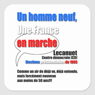 Slogan En Marche Square Sticker