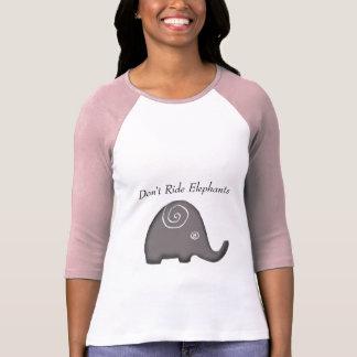 Slogan Ethnic Spiral Don't Ride Elephants Activist T-Shirt
