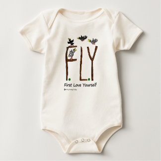 Slogan FLY First Love Yourself Baby Bodysuit