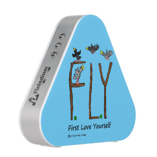 Slogan FLY First Love Yourself Bluetooth Speaker