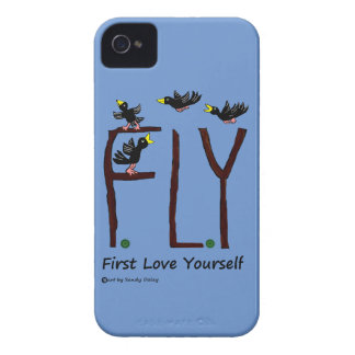 Slogan FLY First Love Yourself Case-Mate iPhone 4 Case