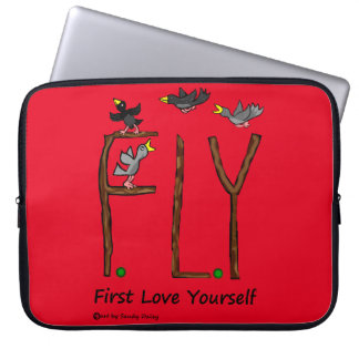 Slogan FLY First Love Yourself Computer Sleeve