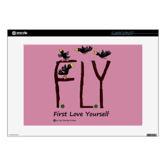 """Slogan FLY First Love Yourself Decal For 15"""" Laptop"""