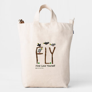 Slogan FLY First Love Yourself Duck Bag