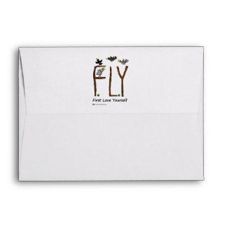 Slogan FLY First Love Yourself Envelope