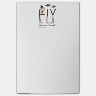 Slogan FLY First Love Yourself Post-it Notes