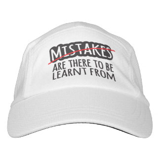 Slogan mistakes are there to be learnt from hat headsweats hat