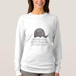 Slogan Spiral Elephants Don't Belong in Circuses T-Shirt