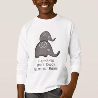 Slogan Spiral Elephants Don't Enjoy Rides T-Shirt