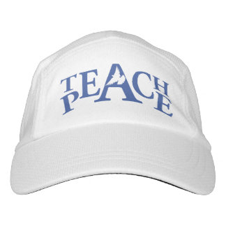 Slogan teach peace white dove hat
